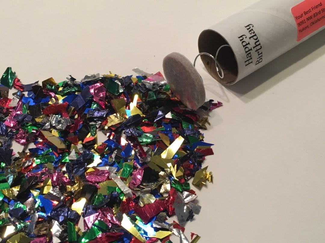 Happy Birthday Spring Loaded Confetti Bomb