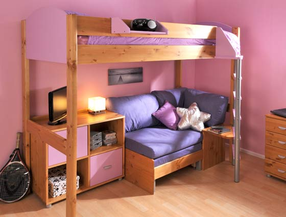 Image Result For High Sleeper With Sofa Bed Pull Out Desk