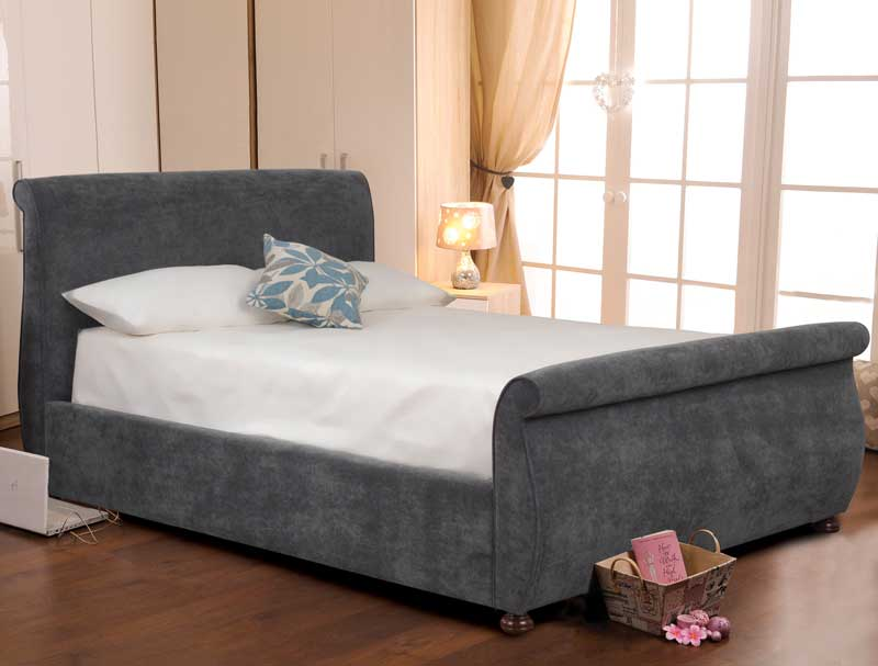 Sweet Dreams Adore Fabric Sleigh Bed Frame Buy Online At