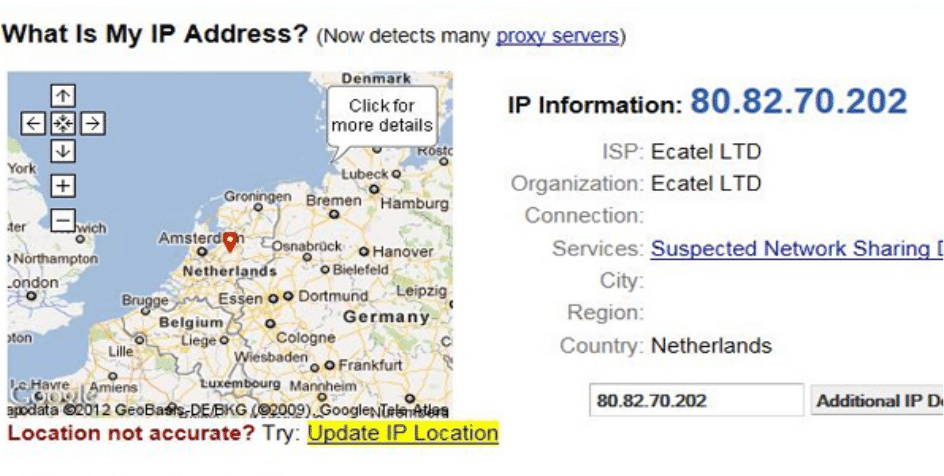 Check IP after using VPN with proxies