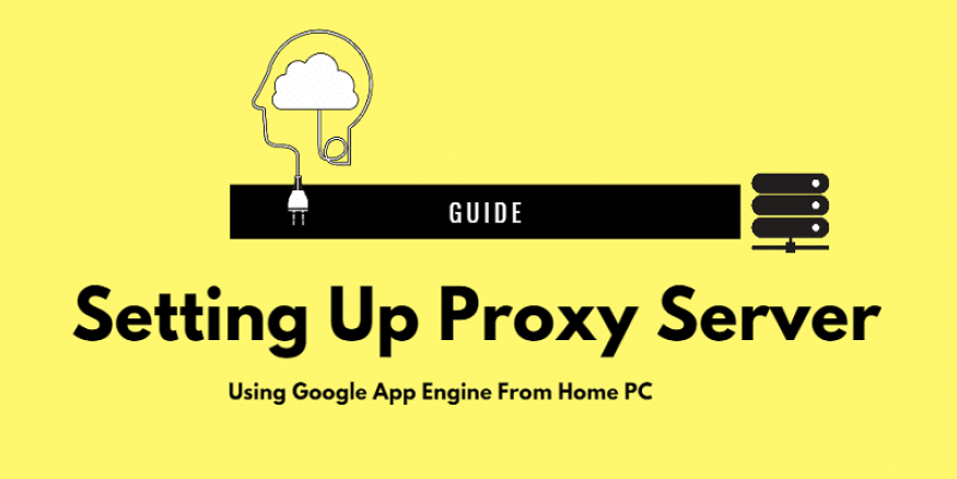 Setting Up proxy sever from home