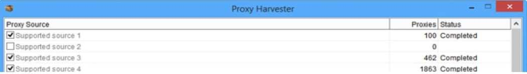 Thousands of proxies from numerous