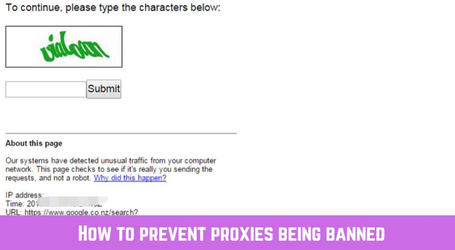 how to avoid proxy ban