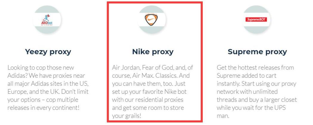 nike proxies from smart proxy