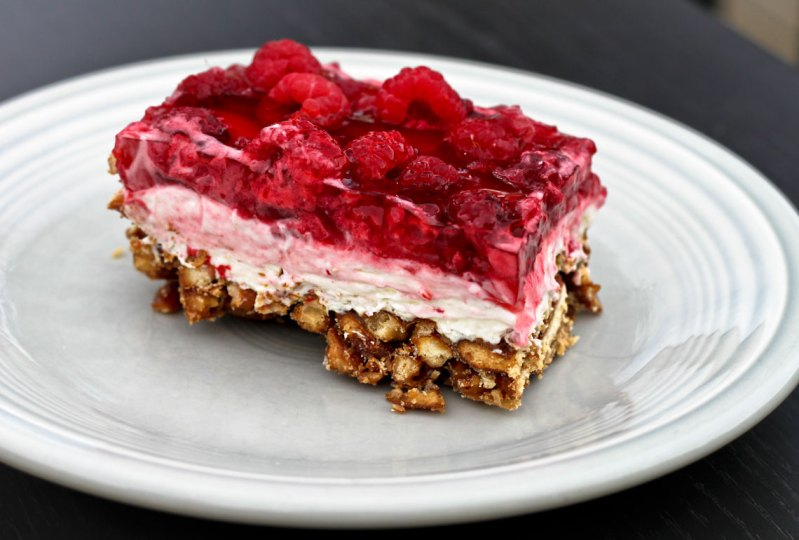 Raspberry Pretzel Dessert
