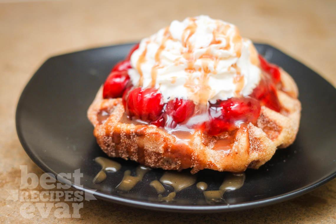 Cherry Cobbler Liege Waffle