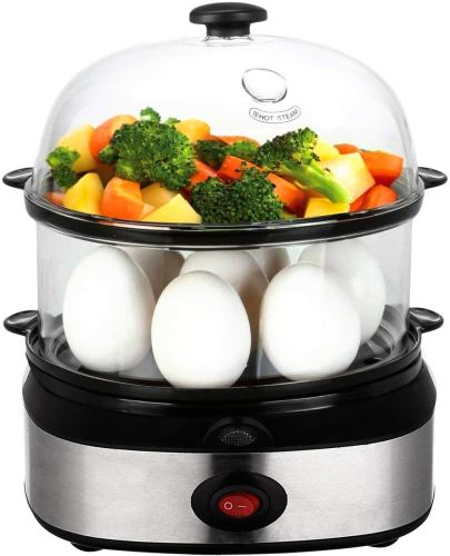 PowerDoF Multifunctional Cooker Double-layer Rapid Electric Egg Steamer