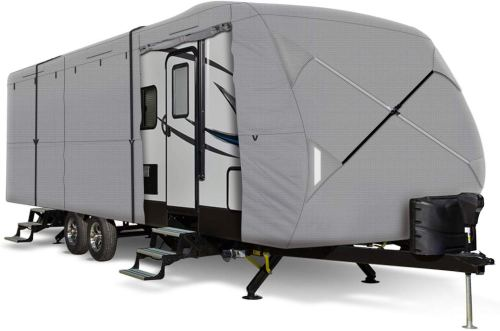 Leader Accessories Windproof Travel RV Trailer Cover