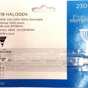 Halogen Tube J118 R7S 230W 1pk