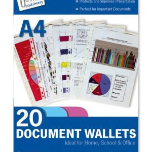 20 Plastic Punched Wallets