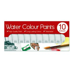 Watercolour Paints Box of 10 x 6 ml