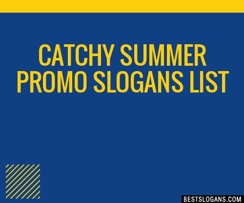 30 Catchy Summer Promo Slogans List Taglines Phrases
