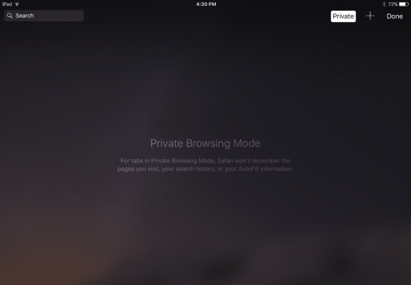 Using Private Mode when browsing