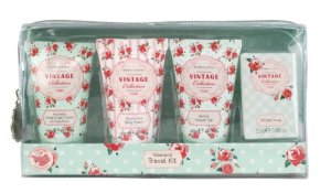 Vintage Heathcote and Ivory Rose Weekend Travel Kit