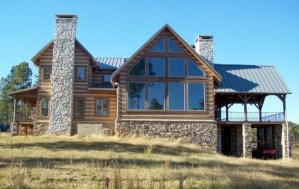 beautiful mountain home with lots of glass