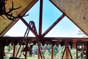 Installing window film in a home