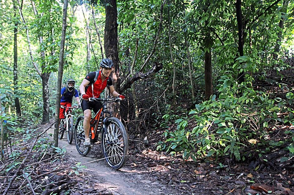 Best mountain bike trails in malaysia Bukit Kiara