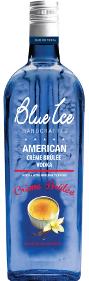 Blue ice creme brule