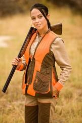 Picture of Woman Wearing Blaze Orange Hunting Vest