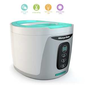 Ultrasonic Cleaner with UV Germicidal Lamp & Digital Timer, 750ML Capacity Cleaner for Jewelry,Eyeglasses, Rings, Coins,Dentures, Retainers, and Mouth Guards by Morpilot