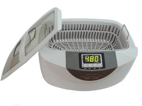 iSonic P4820-WPB Commercial Ultrasonic Cleaner, 2.6Qt/2.5L, White Color, Plastic Basket, 110V