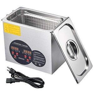 3L Stainless Steel Industry Sonic Heated Ultrasonic Cleaner Heater w/Timer Tool, Silver