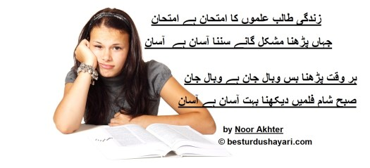 funny poetry on exams