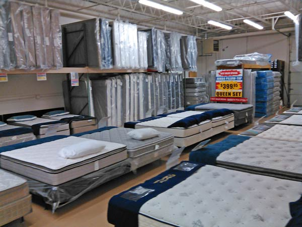 Mattress Display Room At Best Value Warehouse Indianapolis