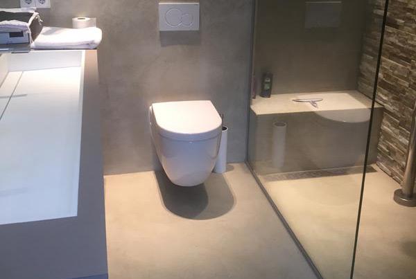 Microcement badkamer Apeldoorn - Best Vloerrenovatie