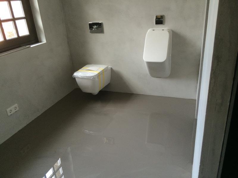Nunspeet microcement wand badkamer