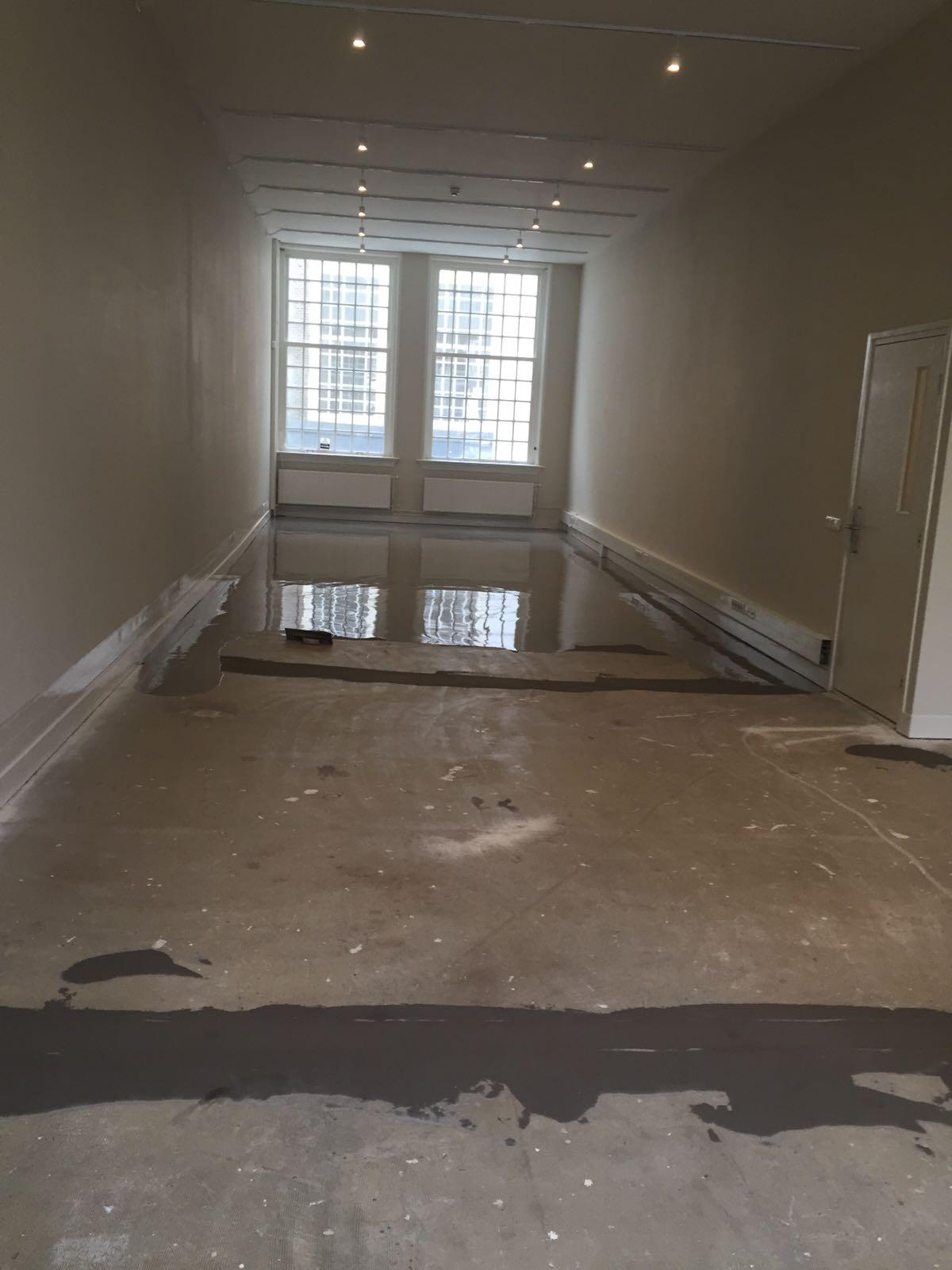 Cementgebonden gietvloer Amsterdam 90 m2 Best Vloerrenovatie Best Building Service B.V.