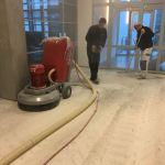 Tegellijm verwijderen Universiteit Nijmegen 600 m2