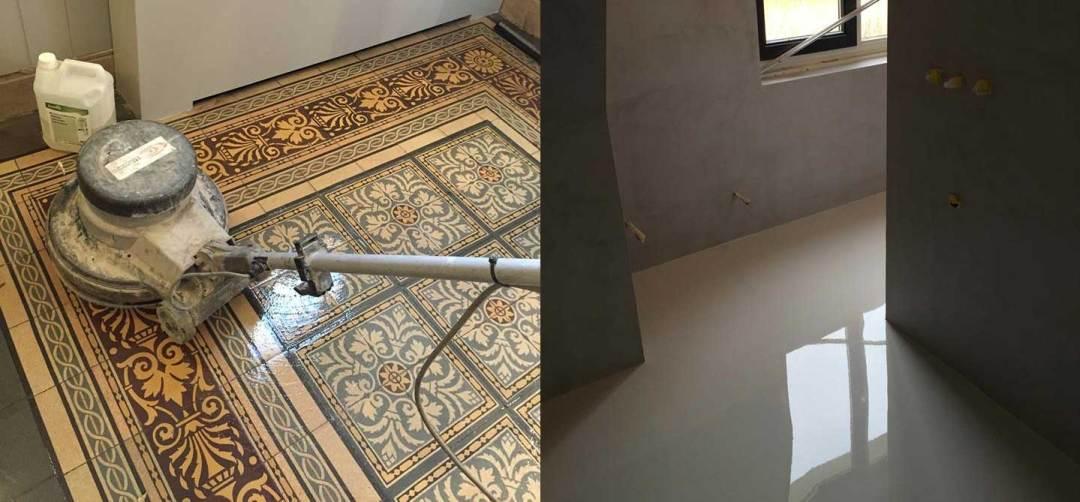 Gietvloer op bestaande tegelvloer