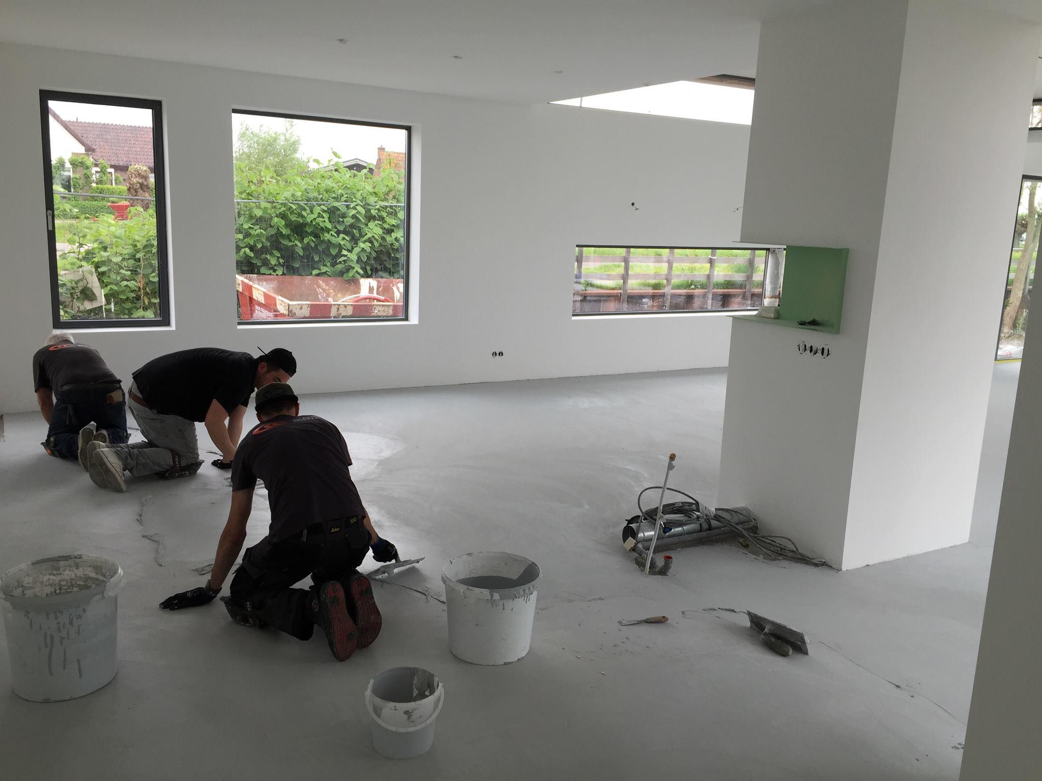Betoon Look Vloer : Microcement vloer villa u ruim vierkante meter woonbeton