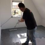 Microcement vloer nieuwbouwwoning De Wijk