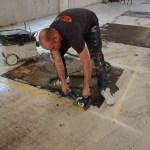 Beschadigde gietvloer Arnhem door zware machines