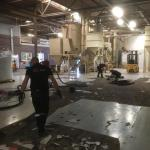 Full epoxy rolcoating over stelconplaten in bedrijfshal Ede