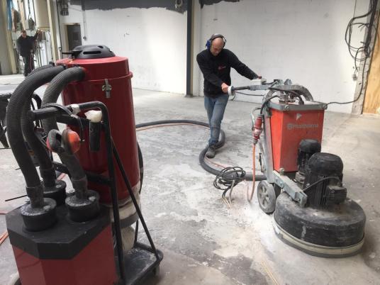 Industriële epoxy gietvloer