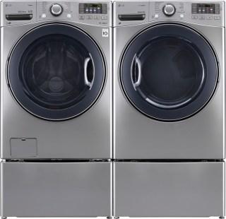 lg 4.3 cu ft ultra large turbowash washer and dryer set