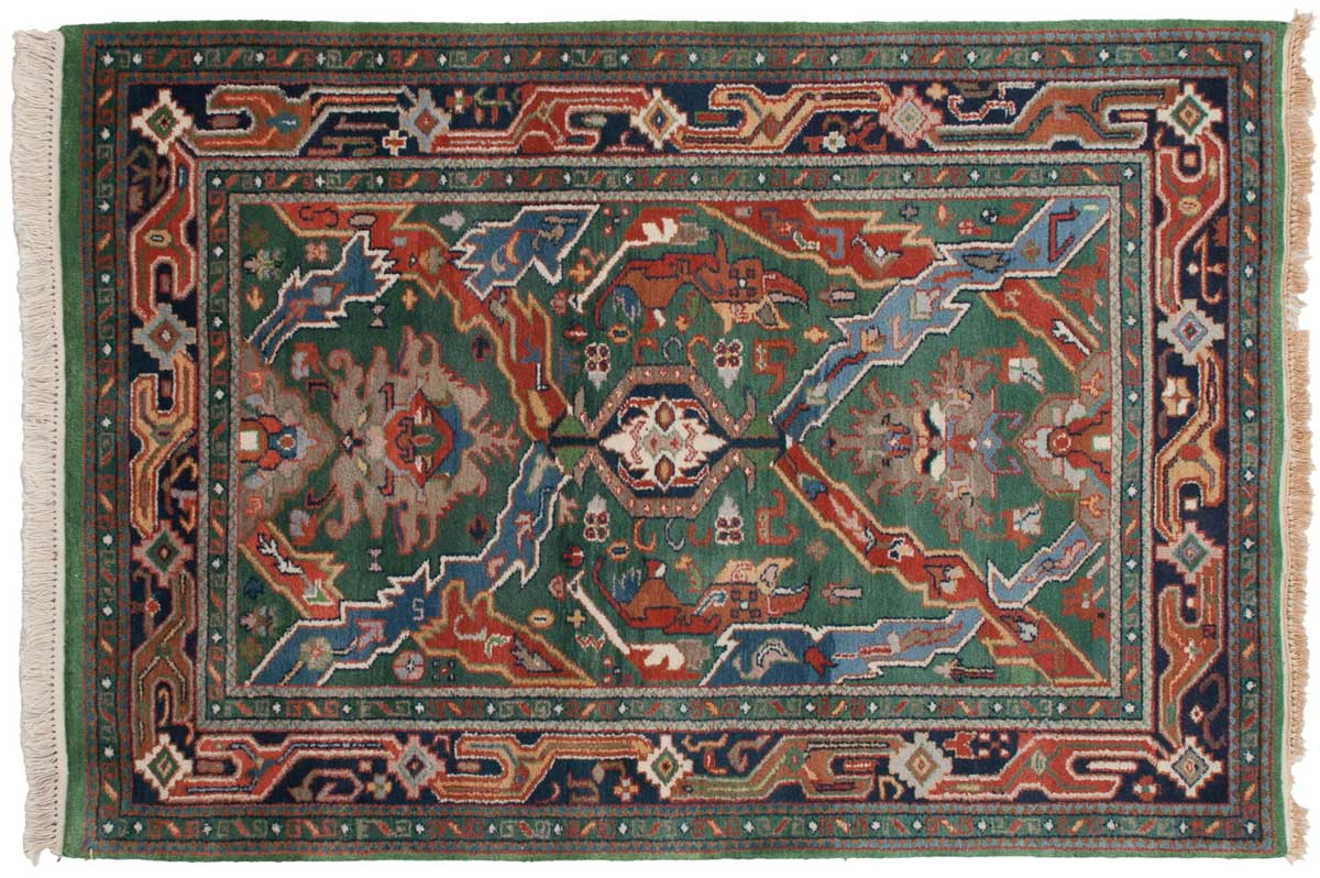 4 6 Geometric Green Oriental Rug 012720 Carpets By Dilmaghani