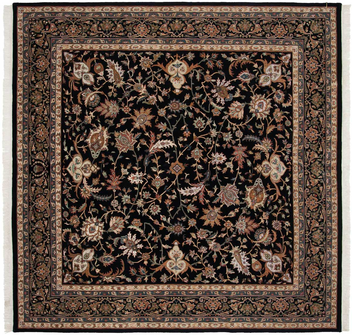 8 8 isfahan black oriental square rug 039486 carpets by dilmaghani