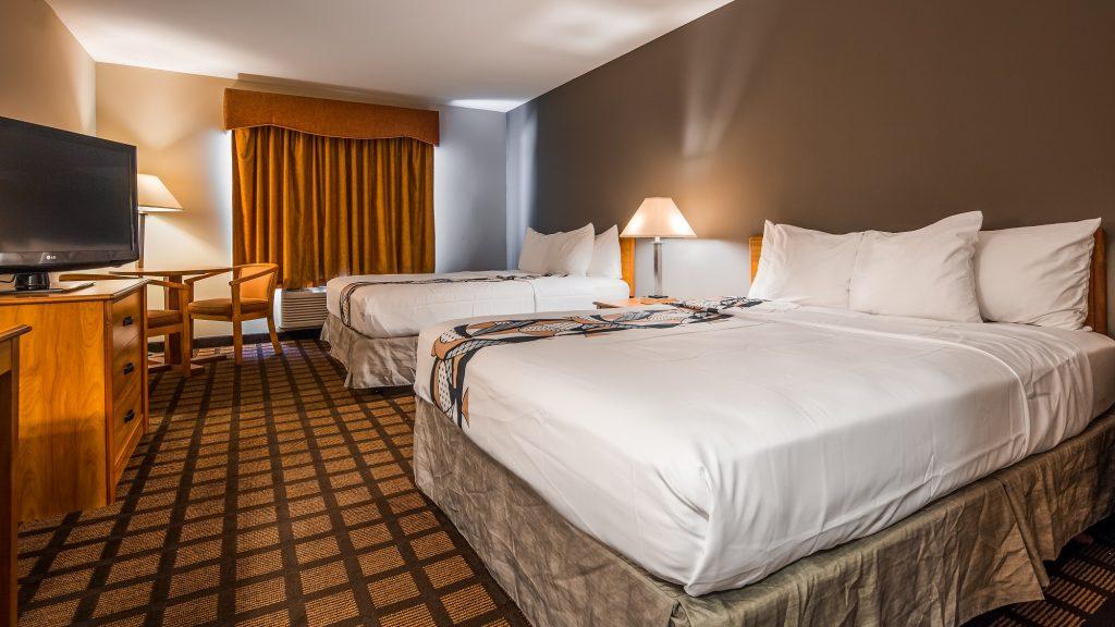 double queen bed room best western