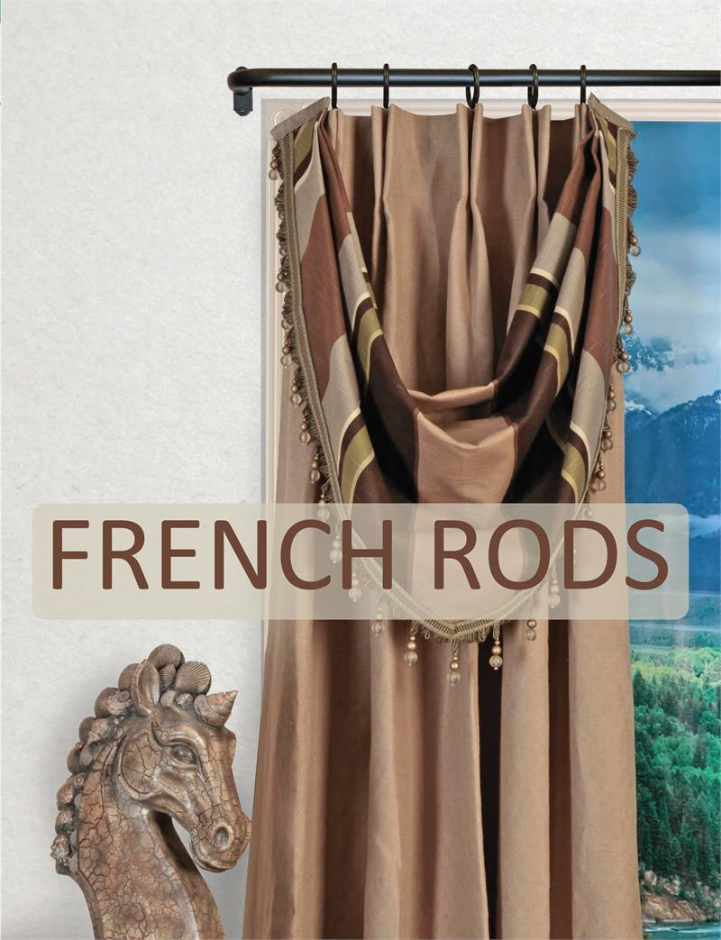 artistica french style curtain rod 5 8 diameter bestwindowtreatments com