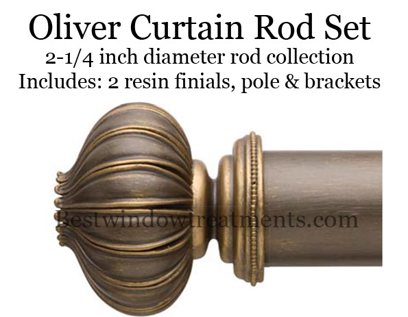 oliver 2 1 4 diameter curtain rod in 40 portfolio finishes bestwindowtreatments com