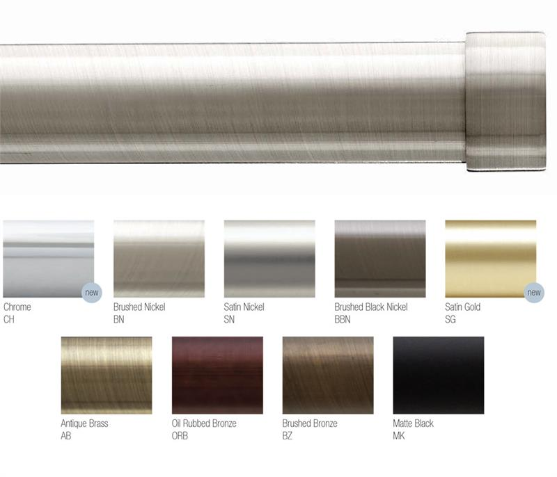 plain end cap 1 1 8 dia custom metal curtain rod set bestwindowtreatments com