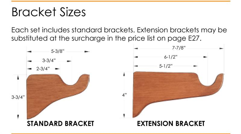 zandelo custom 1 3 8 wood rod in antique gold extra long available