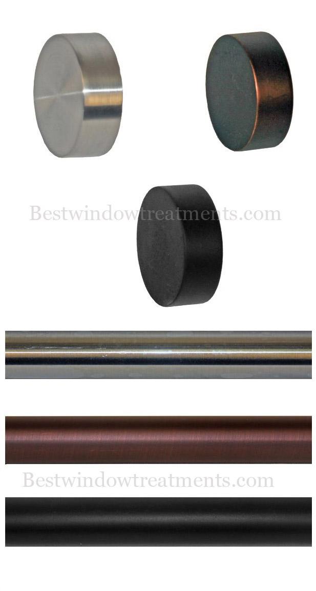 custom tech end cap modern curtain rod set bestwindowtreatments com