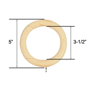 highand unfinished wood curtain rings for 3 diameter curtain rod bestwindowtreatments com