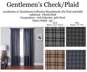 Gentlemen Houndstooth Check Curtain Drapery Panels