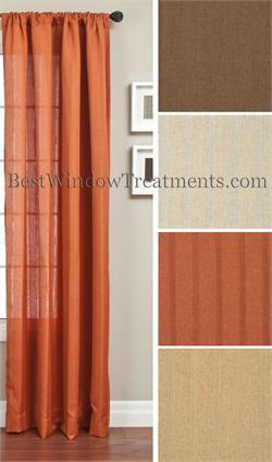 orange curtains rust pumpkin copper